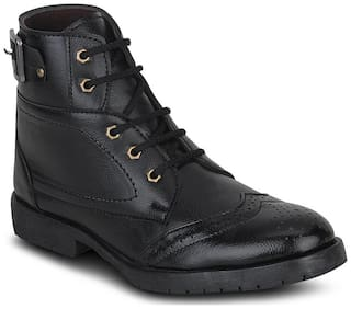 Kielz Men's Black Ankle Boots