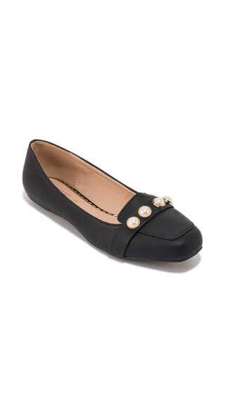 Truffle Collection Black Pearl Detail Flat Belly