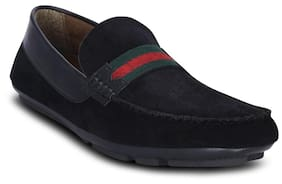 Black-suede Leather-loafers