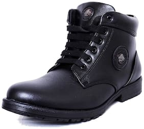 Black Tiger Men Black Ankle Boots