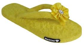 Blackcoal Women Yellow Slippers