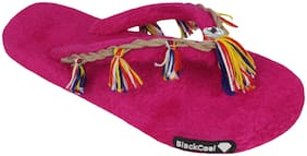 Blackcoal Women Pink Slippers