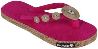Blackcoal Women Pink Slippers
