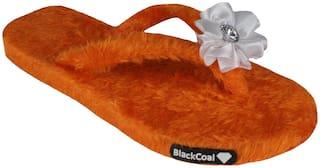 Blackcoal Women Orange Slippers