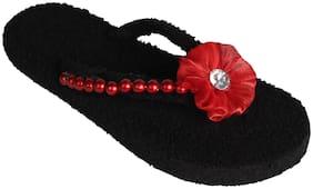 Blackcoal Women Black Flip Flops