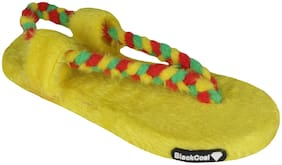Blackcoal Women Yellow Flip Flops