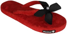 Blackcoal Women Red Slippers
