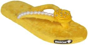 Blackcoal Women Yellow Flip Flops