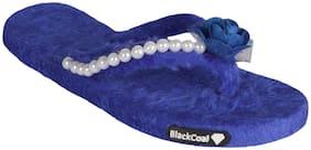 Blackcoal Women Navy Blue Flip Flops