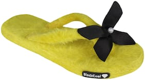 Blackcoal Women Yellow Slippers