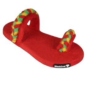 Blackcoal Women Red Flip Flops