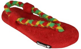 Blackcoal Women Red Flip Flops