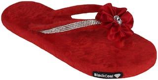 Blackcoal Women Red Slippers