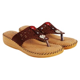18eba4e07d20a3 Blinder Women s Brown Latest Doctor Slipper and Flip Flop