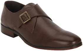 Men Brown Monk Shoes Formal Shoes