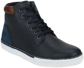 Men Navy Blue High Top Sneakers