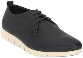 Men Navy Blue Derby Formal Shoes