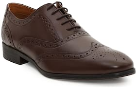 Men Brown Oxford Formal Shoes ,Pack Of 1 Pair
