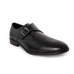 Men Black Monk Shoes Formal Shoes ,Pack Of 1 Pair