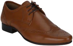 Men Tan Brogues Formal Shoes