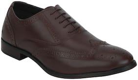 Men Brown Brogues Formal Shoes