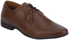 Men Brown Derby Formal Shoes