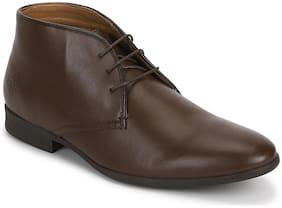 Men Brown Chukka Boots ,Pack Of 1 Pair