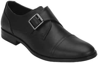 Bond Street Men Black Monk Shoes - BSE0361 - BSE0361