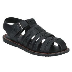 Bond Street By Red Tape Men Black Buckle Sandals