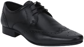 Bond Street By Red Tape Men Black Formal Wing Cap Brouge Shoes