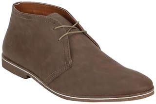 Bond Street Men Brown Chukka Boots - LOW ANKLE - BSS1017