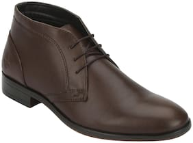 Men Brown Derby Formal Shoes