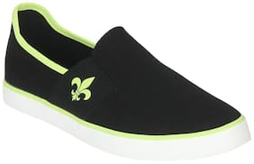 Men Black Slip-On Sneakers