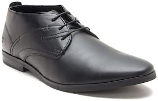 Bond Street by Red Tape Men Black Derby Formal Shoes - BSS0431