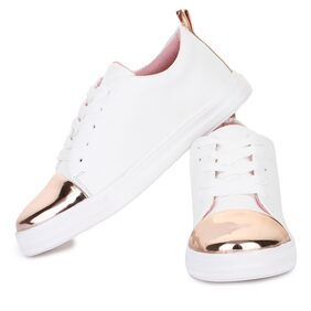 Bootco Synthetic Leather Casual Partywear Sneaker Shoes For Womens And Girls