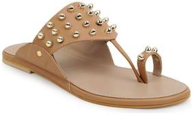 Scentra Women Beige Sandals
