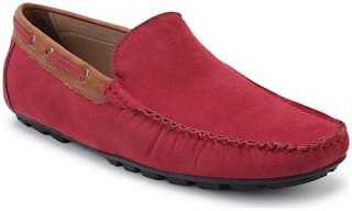 Scentra Men Red Loafers