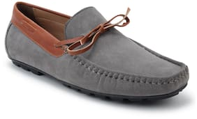 Scentra Men Grey Loafer - Bossman Suede Loafer Slate Grey