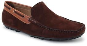 Scentra Men Brown Loafer - Bossman Suede Loafer Dark Brown