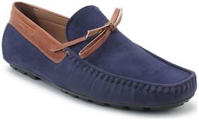 Scentra Men Blue Loafer - Bossman Suede Loafer Navy Blue