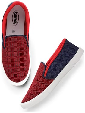 Boston Club Men Red & Blue Loafers