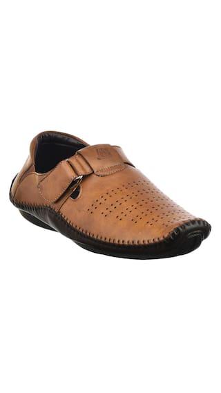 d4827d7cee28 Buy Brandvilla Mens Sandals Colour Tan (Size-7) Online at Low Prices ...