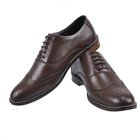 BRIGHT HORSE Men Brown Brogues Formal Shoes - BH-2002-BROWN
