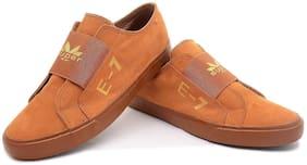 MKLION Men Brown Canvas Shoes