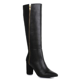 Bruno Manetti Women Black Suede Leather Boots