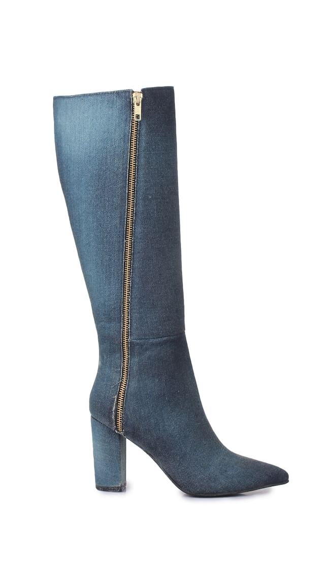 Navy Manetti Boots Women Bruno Fabric
