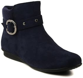 Women Ankle Length Boots ( Red )