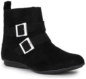 Bruno Manetti Women Black Women Suede Leather Boots