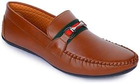 Men Tan Loafers ,Pack Of 1 Pair