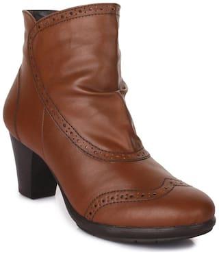 Bruno Manetti Women Tan Boot